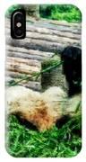 3722-panda -  Watercolor 1 IPhone Case