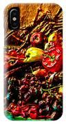 3d Cornucopia In Watercolor IPhone Case