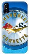 1958 Chevrolet Corvette Emblem IPhone Case