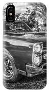 1967 Pontiac Gto Bw IPhone Case