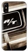 1970 Dodge Challenger Rt Convertible Grille Emblem IPhone Case