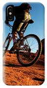 A Middle Age Man Rides His Mountain IPhone Case