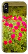 Fence Line Flowers IPhone Case