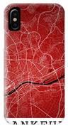 Frankfurt Street Map - Frankfurt Germany Road Map Art On Colored IPhone Case