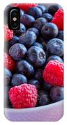 Fresh Picked Organic Blueberries IPhone Case