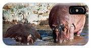 Hippopotamus In River. Serengeti. Tanzania IPhone Case
