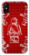 Lego Figure Patent 1979 - Red IPhone Case