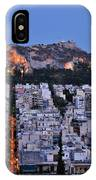 Lycabettus Hill During Dusk Time IPhone Case
