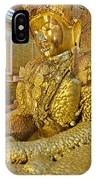 4 M Tall Sitting Buddha With Thick Layer Of Golden Leaves In Mahamuni Pagoda Mandalay Myanmar IPhone Case