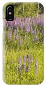 Maine Wild Lupine Flowers IPhone Case