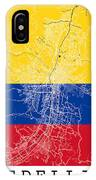 Medellin Street Map - Medellin Colombia Road Map Art On Colored  IPhone Case
