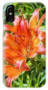 Orange Lilium IPhone Case