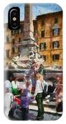 Piazza Della Rotonda In Rome IPhone Case