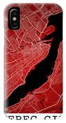 Quebec City Street Map - Quebec City Canada Road Map Art On Colo IPhone Case
