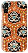 Seamlessly Tiled Kaleidoscopic Mosaic Pattern IPhone Case