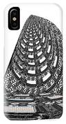 Sparkle Bnw White Pyramid Dome Ancient Arch Architecture Formation Obtained During Deep Meditation W IPhone Case