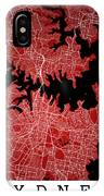Sydney Street Map - Sydney Australia Road Map Art On Colored Bac IPhone Case