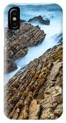 The Jagged Rocks And Cliffs Of Montana De Oro State Park In California IPhone Case
