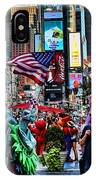 Times Square On A Tuesday IPhone Case