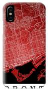 Toronto Street Map - Toronto Canada Road Map Art On Colored Back IPhone Case