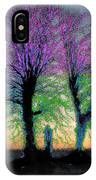 Trees Aglow IPhone Case