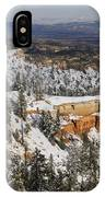 Winter Scene, Bryce Canyon National Park IPhone Case