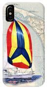 39 Foot Beneteau Cape Cod Chart Art IPhone Case