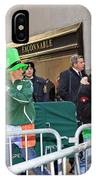 A View Of Some People Enjoying The 2009 New York St. Patrick Day IPhone Case