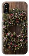 Advent Christmas Wreath Decoration IPhone Case