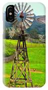 Painting San Simeon Pines Windmill IPhone Case