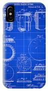 Bottle Cap Patent 1892 - Blue IPhone Case