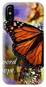 Butterfly Scripture IPhone Case