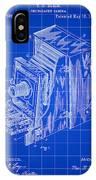 Camera Patent 1887 - Blue IPhone Case