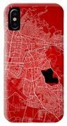 Cochabamba Street Map - Cochabamba Bolivia Road Map Art On Color IPhone Case