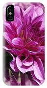 Dahlia Named Blue Bell IPhone Case