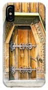 Detail Of The Door Of A Typical Ukrainian Antique Orthodox Churc IPhone Case