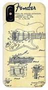 Fender Tremolo Device Patent Drawing From 1956 IPhone Case