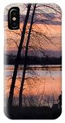 Fly Fishing At Sunset IPhone Case