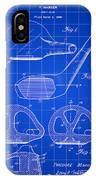 Golf Club Patent 1926 - Blue IPhone Case