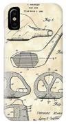 Golf Club Patent 1926 - Vintage IPhone Case