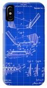 Golf Iron Patent 1914 - Blue IPhone Case