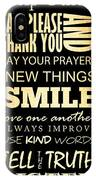 Inspirational Art - House Rules. IPhone Case