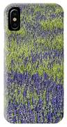 Lavendar Field Rows Of White And Purple Flowers IPhone Case