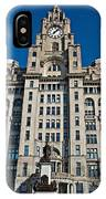Liverpool's World Heritage Status Waterfront Buildings IPhone Case