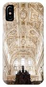 Mezquita Cathedral Interior In Cordoba IPhone Case