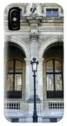 Ornate Architectural Artwork On The Buildings Of The Musee Du Louvre In Paris France IPhone Case