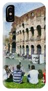 Outside Colosseum In Rome IPhone Case