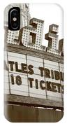 Terre Haute - Indiana Theater IPhone Case