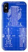 Tesla Electro Magnetic Motor Patent 1889 - Blue IPhone Case