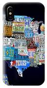 The Usa License Tag Map IPhone Case